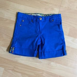 Mini Boden Girls Blue Denim Cuffed Shorts 8